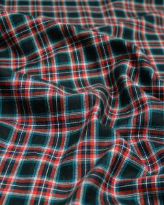Brushed Cotton Fabric - Navy Multi Tartan