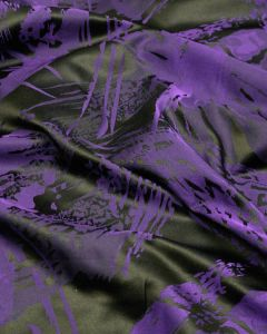 Polyester Jacquard Fabric - Purple on Black