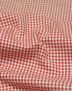 Yarn Dyed Cotton Fabric - 3mm Gingham Red