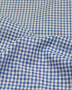 Yarn Dyed Cotton Fabric - 3mm Gingham Royal Blue