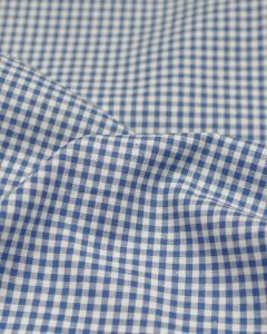 Cotton Gingham 3mm Fabric - Blue