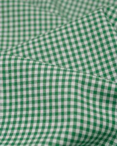 Yarn Dyed Cotton Fabric - 3mm Gingham Green