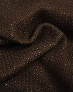 Wool Blend Coating Fabric - Chocolate Brown