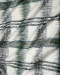 Mohair Coating Fabric - Sage Check