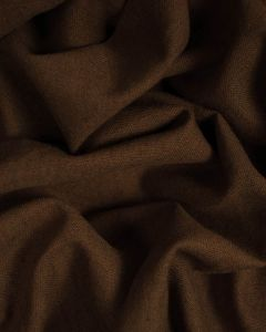 Linen & Cotton Blend Fabric - Chocolate