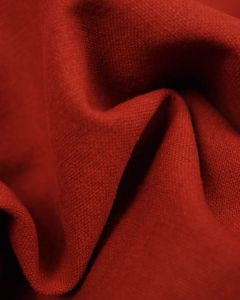 Linen & Cotton Blend Fabric - Harissa