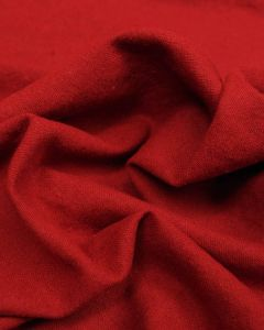 Linen & Cotton Blend Fabric - Crimson