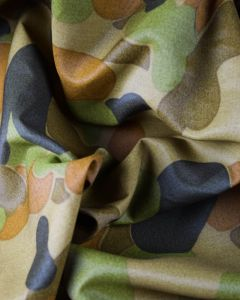 Polyester Fabric - Green Woodland Camo