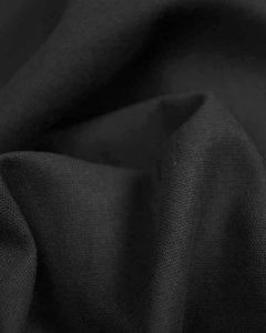 Linen & Cotton Blend Fabric - Charcoal