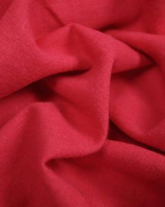 Linen & Cotton Blend Fabric - Raspberry