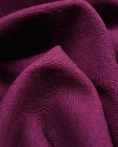Linen & Cotton Blend Fabric - Acai
