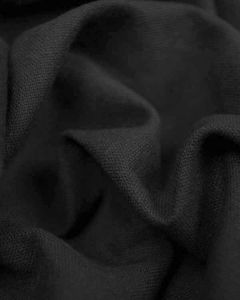 Linen & Cotton Blend Fabric - Black