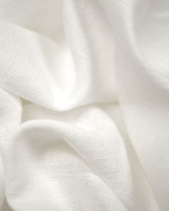Linen & Cotton Blend Fabric - White