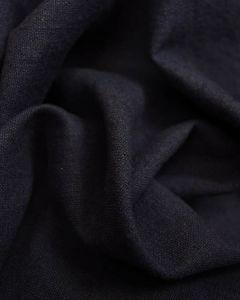 Linen & Cotton Blend Fabric - Midnight Blue