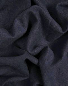 Linen & Cotton Blend Fabric - Navy
