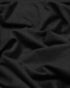 Organic Cotton Jersey Fabric - Black