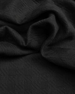 Polyester Jacquard Fabric - Charcoal Grey