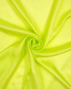 Plain Silk Habotai Fabric - Acid Green
