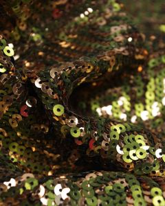 Sequinned Fabric - Spiral Squares