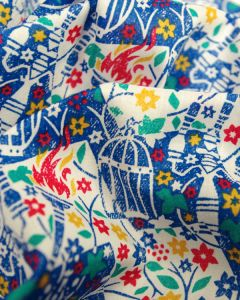 Liberty Tana Lawn Fabric - Eternal Flame in Blue