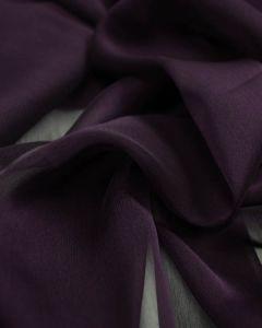 Polyester Chiffon Fabric - Aubergine
