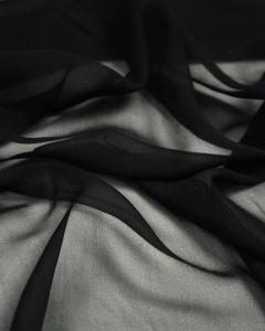 Fine Silk Chiffon Fabric - Black