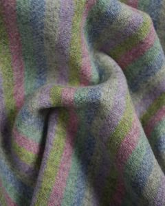 Double Face Pure Wool Fabric - Pastel Stripe