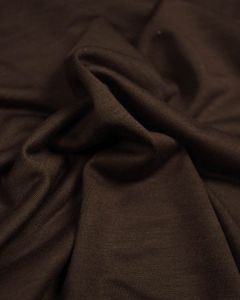 Poly Viscose Jersey Fabric - Chocolate Brown