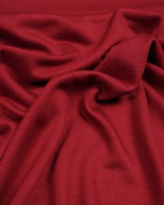 Poly Viscose Jersey Fabric - Cherry Red