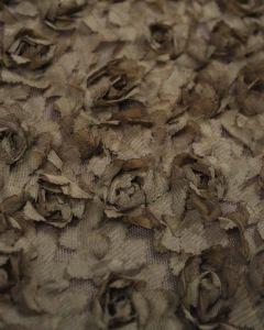 Flower Tulle Fabric - Mushroom
