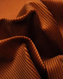 REMNANT Pure Cotton Corduroy Fabric - Rust