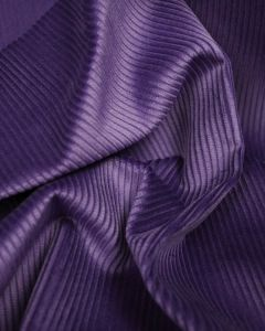 Pure Cotton Corduroy Fabric - Grape