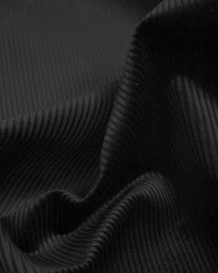 Pure Cotton Corduroy Fabric - Black