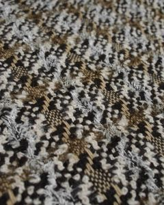 Wool Blend Coating Fabric - Multi Brown Check