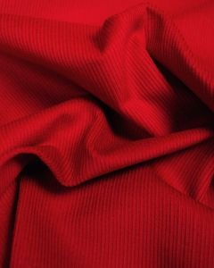Pure Cotton Needlecord Fabric - Cherry Red
