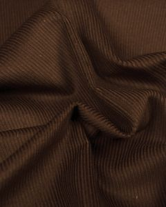 Pure Cotton Needlecord Fabric - Chocolate Brown