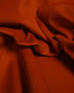 Pure Cotton Needlecord Fabric - Rust