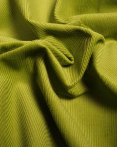Pure Cotton Needlecord Fabric - Lime Green