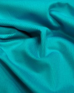 Pure Cotton Needlecord Fabric - Turquoise