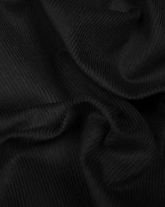 Pure Cotton Needlecord Fabric - Black
