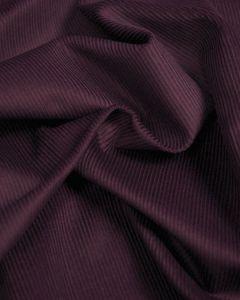 Pure Cotton Needlecord Fabric - Plum Purple