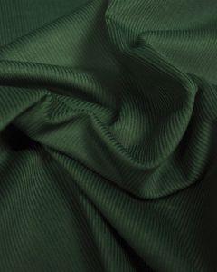 Pure Cotton Needlecord Fabric - Bottle Green