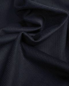Pure Cotton Needlecord Fabric - Dark Navy