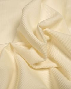 Pure Cotton Needlecord Fabric - Cream