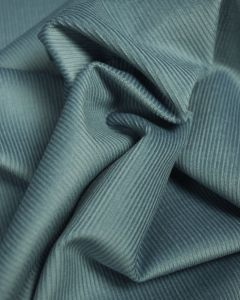 Pure Cotton Needlecord Fabric - Dusty Blue