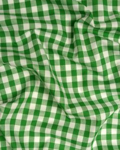 Cotton Gingham 1cm Fabric - Green