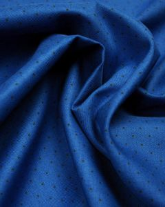Brushed Cotton Fabric - Royal Blue Pin Spot