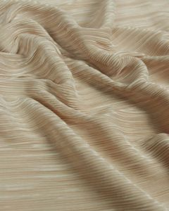REMNANT Pleated Polyester Knit Fabric - Champagne