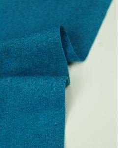 Boiled Wool Blend Jersey Fabric - Marine Blue