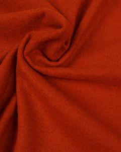 REMNANT Burnt Orange Boiled Wool Blend Fabric - 130cm x 150cm
